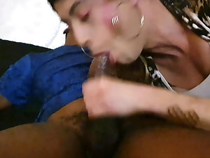 Young BBC throatfucking his sissy