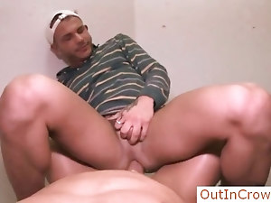 Latin dude getting anal fucked in public by outincrowd