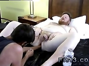 Males having gay sex 6 first time Sky Works Brock's Hole with his Fist