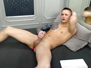 Johnny - a fucking hot 22yo boy strokes his dick and cum