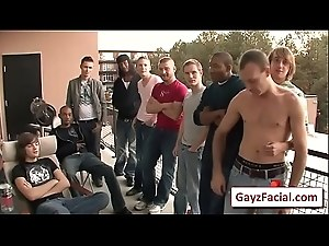 Bukkake Gay Boys - Nasty bareback facial cumshot parties 04