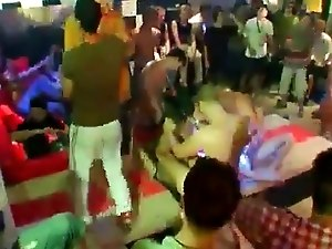 Blowjob male group gay This masculine stripper party is racing towards