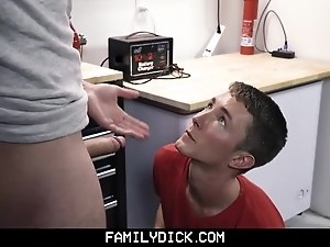 Family Dick - Young son Gets Taught a Lesson by Daddy