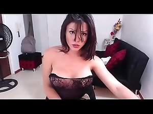 Hot Colombian Shemale long webcam Show