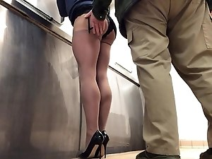Followed into the public toilets by a lorry driver .