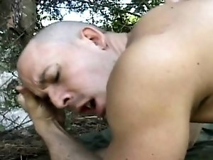 Young studs barebacking in the woods