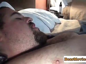 Hairy superchub anally screwed after sucking