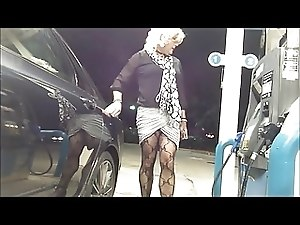 New Leggy Skirt Gas Station Flashing